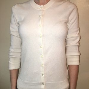 Banana Republic Off-White Button Up Cardigan Sz Xs